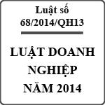 Luật doanh nghiệp 68/2014/QH13