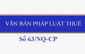 Nghị quyết 63//NQ-CP